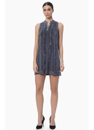 NetWork Kolsuz Mini Elbise İndigo